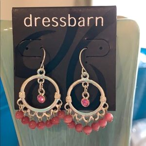3/$10 NWT pink tiger eye dangling earrings